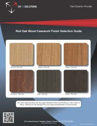Click to download the Red Oak Wood Casework Finish Selection  PDF